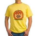 Halloween Insert Candy Here Yellow T-Shirt