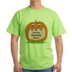 Halloween Insert Candy Here Green T-Shirt