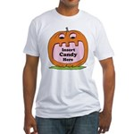 Halloween Insert Candy Here Fitted T-Shirt