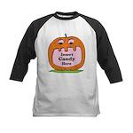 Halloween Insert Candy Here Kids Baseball Jersey