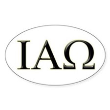 IAO Oval Decal