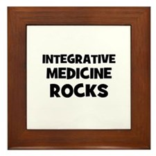 Integrative Medicine Rocks Framed Tile