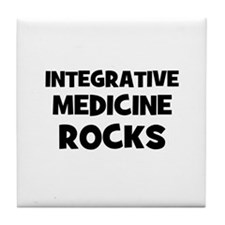 Integrative Medicine Rocks Tile Coaster