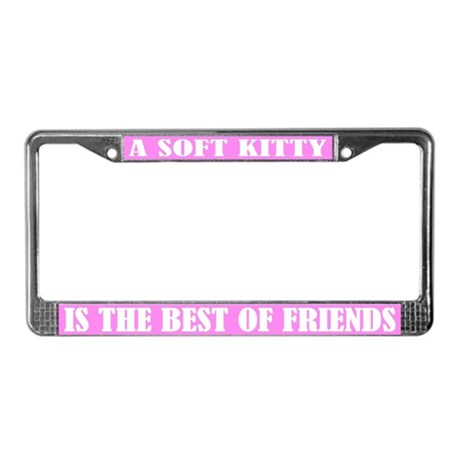 Soft Kitty Cat License Plate Frame