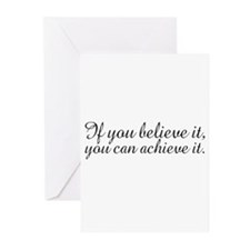 Believe it and Achieve It Greeting Cards (Pk of 20