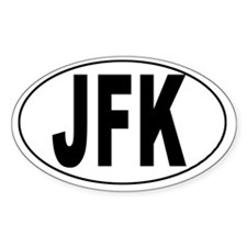 John F. Kennedy Int'l Airport Oval Decal