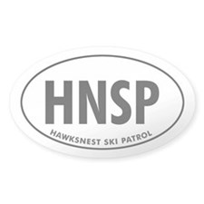 HAWKSNEST SKI PATROL Oval Decal