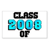 Class of 2008 Rectangle Decal