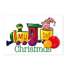 Train 1st Christmas Postcards (Package of 8)