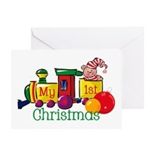 Train 1st Christmas Greeting Card