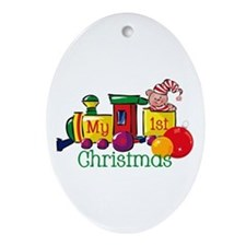 Train 1st Christmas Keepsake (Oval)