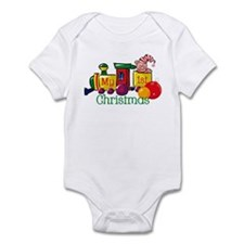 Train 1st Christmas Infant Bodysuit