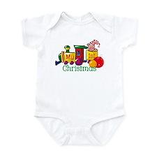 Train 1st Christmas Infant Bodysuit
