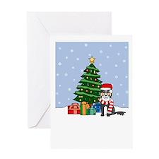 Border Collie Christmas Greeting Card