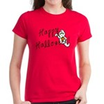 Happy Halloween Ghost Women's Dark T-Shirt
