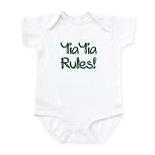 YiaYia Rules! Baby Onesie