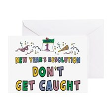 Funny New Year's Resolution Greeting Card