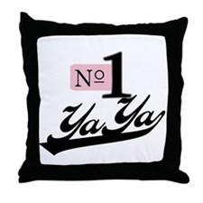 Number One YaYa Throw Pillow