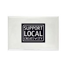 Support Local Creativity Rectangle Magnet (100 pac