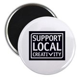 "Support Local Creativity 2.25"" Magnet (10 pack)"