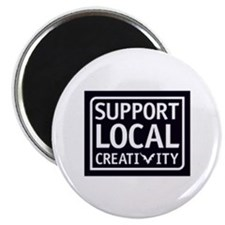 "Support Local Creativity 2.25"" Magnet (100 pack)"