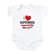 September 27th Infant Bodysuit
