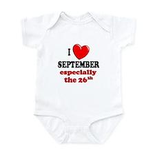 September 26th Infant Bodysuit