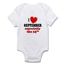 September 25th Infant Bodysuit