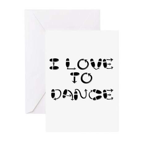 I Love To Dance Greeting Cards (Pk of 20)