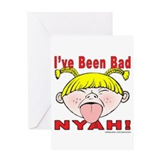 Nyah Bad Girl! Greeting Card