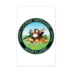 Living Organic Maryland Mini Poster Print