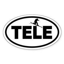 Telemark Oval Decal
