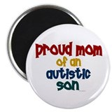Proud Mom Of Autistic Son 2 Magnet