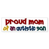 Proud Mom Of Autistic Son 2 Bumper  Bumper Sticker