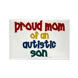 Proud Mom Of Autistic Son 2 Rectangle Magnet