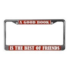 Good Book Reading License Plate Frame