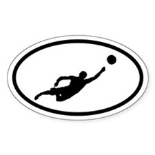 Beach Volleyball Player Oval Decal