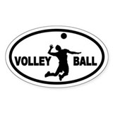 Volleyball Player Oval Decal