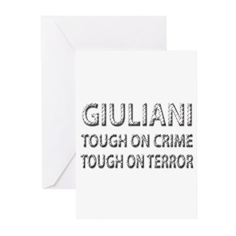 Giuliani tough on terror Greeting Cards (Pk of 10)