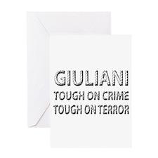 Giuliani tough on terror Greeting Card