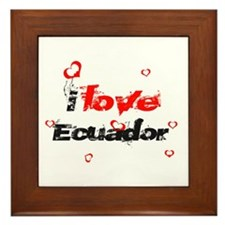 I Love Ecuador Framed Tile