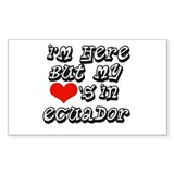 Heart In Ecuador Rectangle Decal