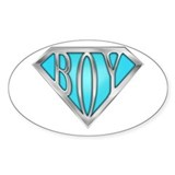 SuperBoy(blue) Oval Decal