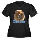 ChowName Women's Plus Size V-Neck Dark T-Shirt