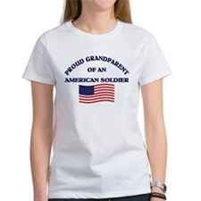 Proud Grandparent American Soldier Tee