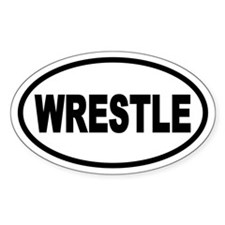 Basic Wrestling Oval Decal