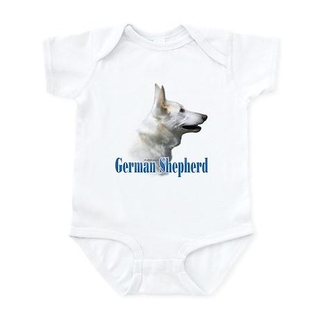 GSD(white)Name Infant Bodysuit