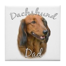 Dachshund Dad2 Tile Coaster