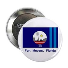 "Fort Meyers FL Flag 2.25"" Button (100 pack)"