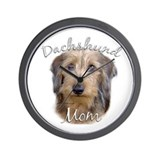 Dachshund Mom2 Wall Clock